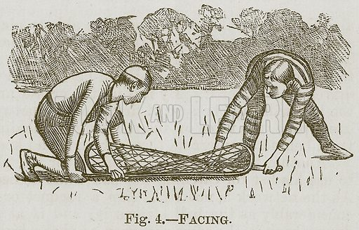 Facing. Illustration for Cassell's Book of Sports and Pastimes (Cassell, c 1890).