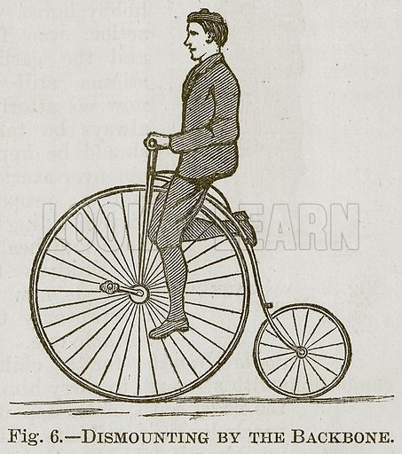 Dismounting by the Backbone. Illustration for Cassell's Book of Sports and Pastimes (Cassell, c 1890).