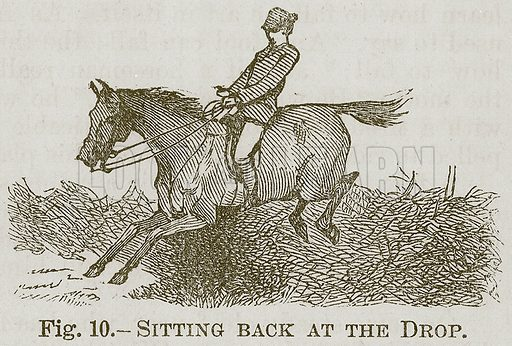 Sitting Back at the Drop. Illustration for Cassell's Book of Sports and Pastimes (Cassell, c 1890).