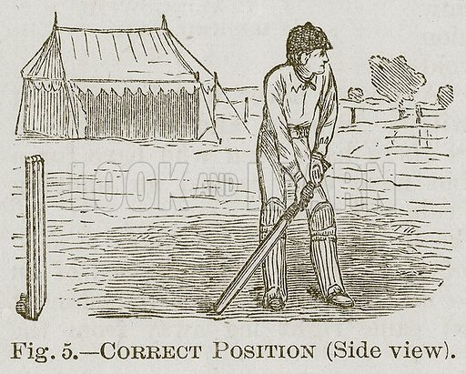 Correct Position (Side View). Illustration for Cassell's Book of Sports and Pastimes (Cassell, c 1890).