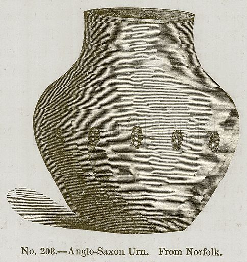 Anglo-Saxon Urn. Illustration for History of Ancient Pottery by Samuel Birch (John Murray, 1873).