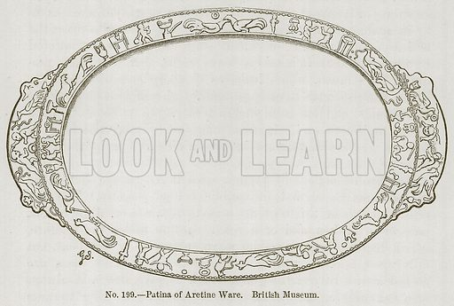 Patina of Aretine Ware. British Museum. Illustration for History of Ancient Pottery by Samuel Birch (John Murray, 1873).