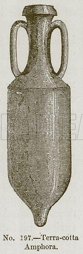 Terra-Cotta Amphora. Illustration for History of Ancient Pottery by Samuel Birch (John Murray, 1873).