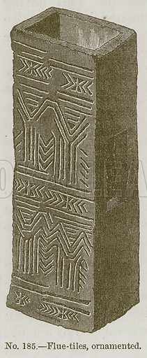 Flue-Tiles, Ornamented. Illustration for History of Ancient Pottery by Samuel Birch (John Murray, 1873).