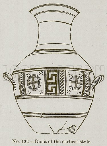 Diota of the Earliest Style. Illustration for History of Ancient Pottery by Samuel Birch (John Murray, 1873).