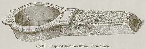 Supposed Sassanian Coffin. Illustration for History of Ancient Pottery by Samuel Birch (John Murray, 1873).