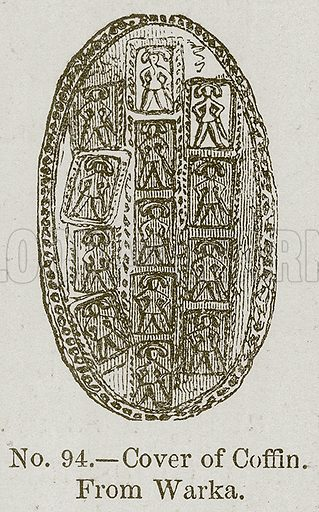 Cover of Coffin. Illustration for History of Ancient Pottery by Samuel Birch (John Murray, 1873).