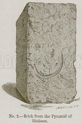 Brick from the Pyramid of Illahoon. Illustration for History of Ancient Pottery by Samuel Birch (John Murray, 1873).