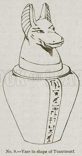 Vase in Shape of Tuautmutf. Illustration for History of Ancient Pottery by Samuel Birch (John Murray, 1873).