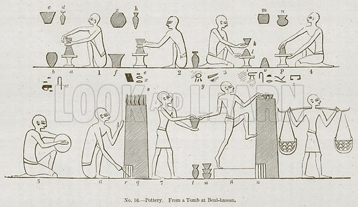 Pottery. Illustration for History of Ancient Pottery by Samuel Birch (John Murray, 1873).
