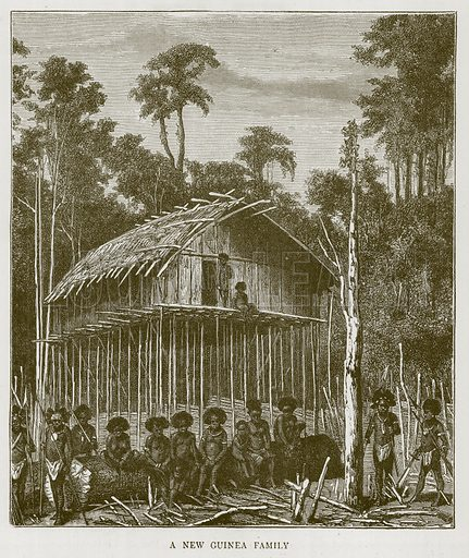 A New Guinea Family. Illustration for Children of All Nations (Cassell, c 1880).