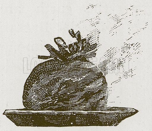 Christmas Pudding. Illustration for Children of All Nations (Cassell, c 1880).