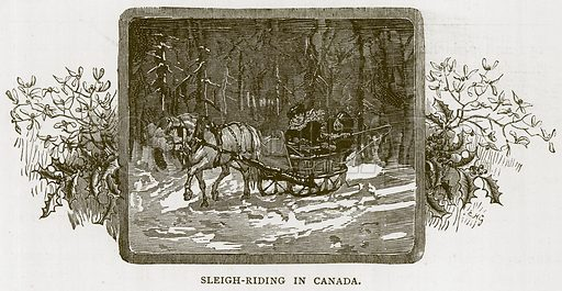 Sleigh-Riding in Canada. Illustration for Children of All Nations (Cassell, c 1880).