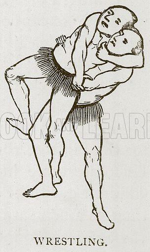 Wrestling. Illustration for Children of All Nations (Cassell, c 1880).