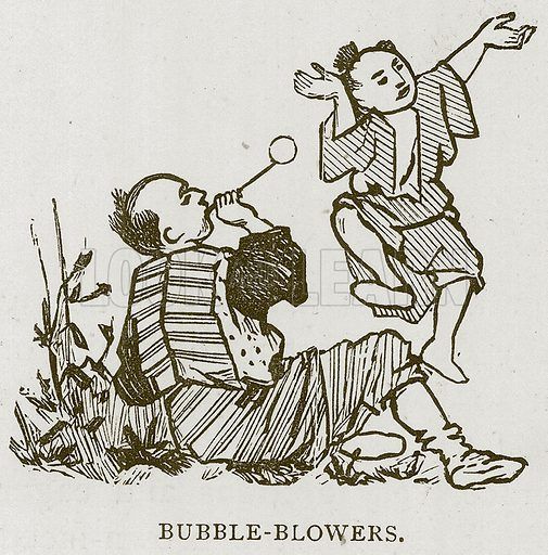 Bubble-Blowers. Illustration for Children of All Nations (Cassell, c 1880).