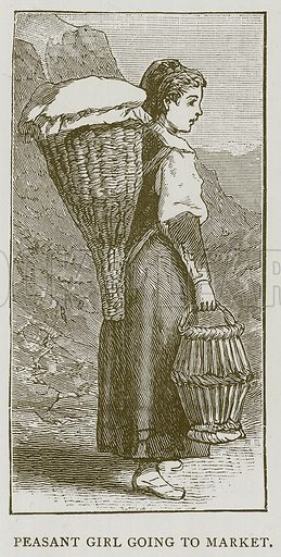 Peasant Girl going to Market. Illustration for Children of All Nations (Cassell, c 1880).