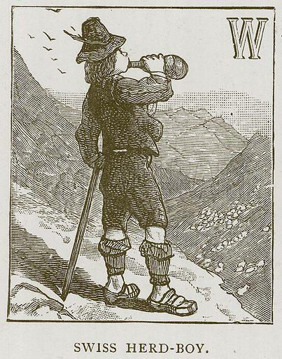 Swiss Herd-Boy. Illustration for Children of All Nations (Cassell, c 1880).