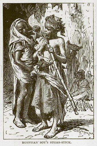 Egyptian Boy's Sugar-Stick. Illustration for Children of All Nations (Cassell, c 1880).