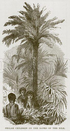 Fellah Children on the Banks of the Nile. Illustration for Children of All Nations (Cassell, c 1880).
