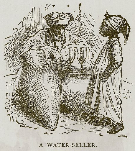 A Water-Seller. Illustration for Children of All Nations (Cassell, c 1880).