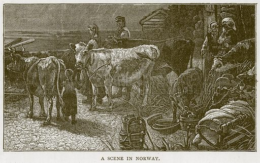 A Scene in Norway. Illustration for Children of All Nations (Cassell, c 1880).