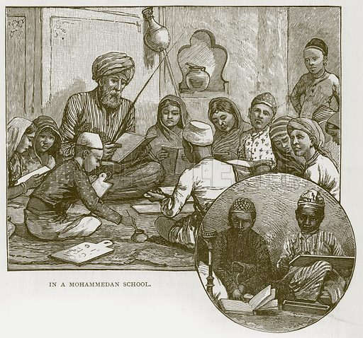In a Mohammedan School. Illustration for Children of All Nations (Cassell, c 1880).