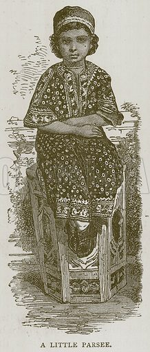 A Little Parsee. Illustration for Children of All Nations (Cassell, c 1880).