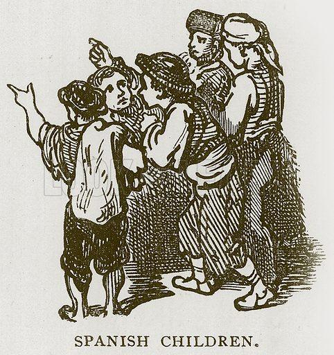 Spanish Children. Illustration for Children of All Nations (Cassell, c 1880).