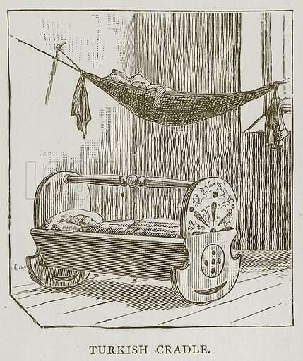 Turkish Cradle. Illustration for Children of All Nations (Cassell, c 1880).