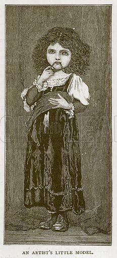 An Artist's Little Model. Illustration for Children of All Nations (Cassell, c 1880).