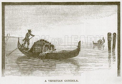 A Venetian Gondola. Illustration for Children of All Nations (Cassell, c 1880).