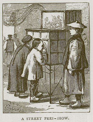 A Street Peel-Show. Illustration for Children of All Nations (Cassell, c 1880).