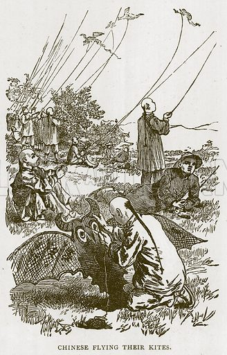 Chinese Flying their Kites. Illustration for Children of All Nations (Cassell, c 1880).