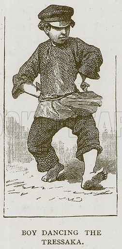 Boy Dancing the Tressaka. Illustration for Children of All Nations (Cassell, c 1880).