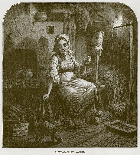 A Woman at Work. Illustration for Children of All Nations (Cassell, c 1880).
