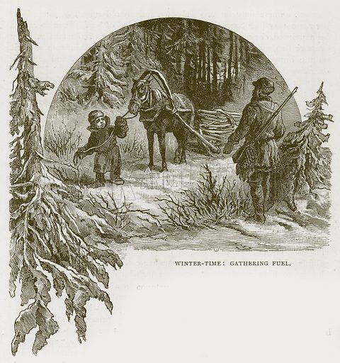Winter-Time: Gathering Fuel. Illustration for Children of All Nations (Cassell, c 1880).