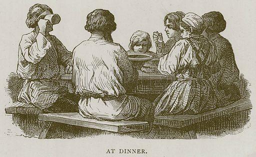 At Dinner. Illustration for Children of All Nations (Cassell, c 1880).