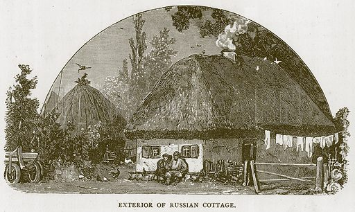 Exterior of Russian Cottage. Illustration for Children of All Nations (Cassell, c 1880).