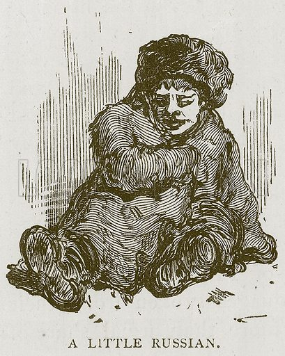 A Little Russian. Illustration for Children of All Nations (Cassell, c 1880).