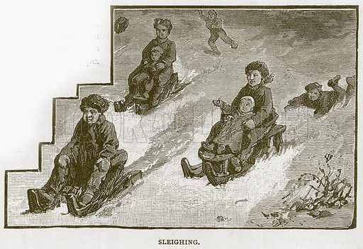 Sleighing. Illustration for Children of All Nations (Cassell, c 1880).