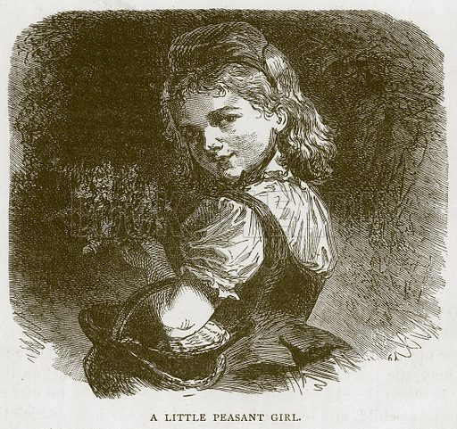 A Little Peasant Girl. Illustration for Children of All Nations (Cassell, c 1880).