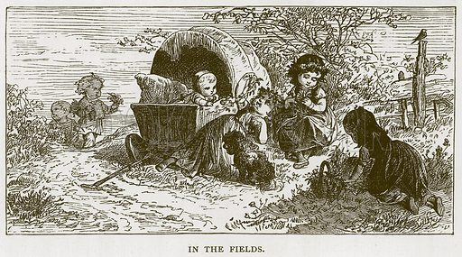 In the Fields. Illustration for Children of All Nations (Cassell, c 1880).