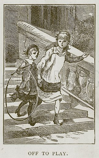 Off to Play. Illustration for Children of All Nations (Cassell, c 1880).