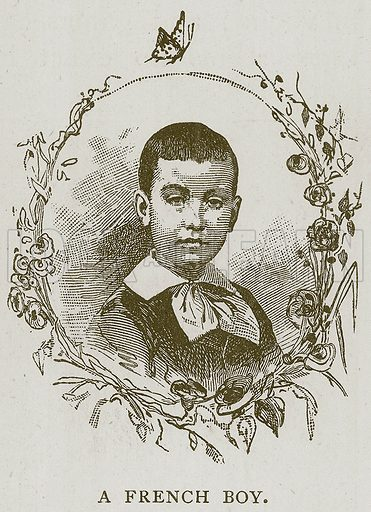 A French Boy. Illustration for Children of All Nations (Cassell, c 1880).