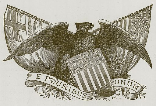 E Pluribus Unum. Illustration for Children of All Nations (Cassell, c 1880).