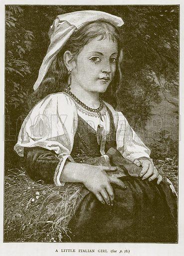 A Little Italian Girl. Illustration for Children of All Nations (Cassell, c 1880).