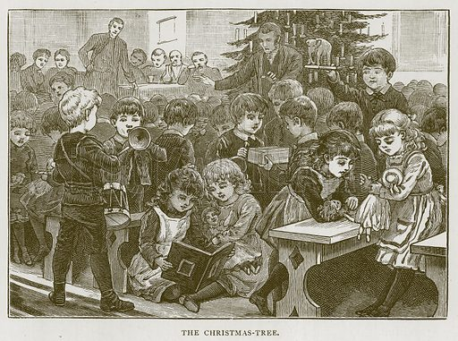 The Christmas-Tree. Illustration for Children of All Nations (Cassell, c 1880).