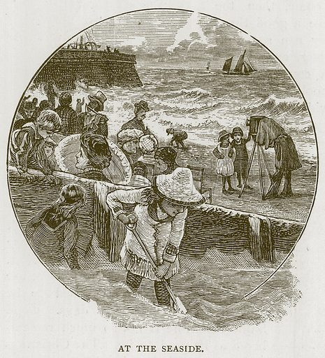 At the Seaside. Illustration for Children of All Nations (Cassell, c 1880).