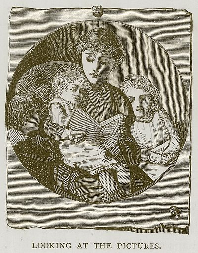 Looking at the Picture. Illustration for Children of All Nations (Cassell, c 1880).