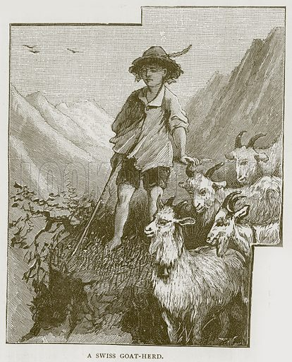 A Swiss Goat-Herd. Illustration for Children of All Nations (Cassell, c 1880).